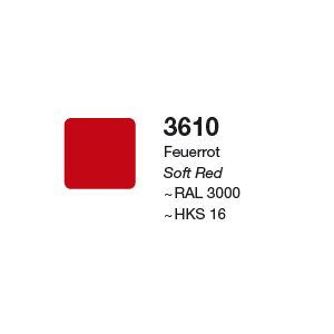 XF3 3610 Matte Soft Red