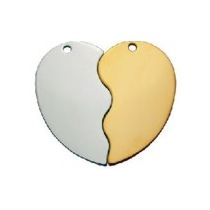 HC5045-FRH Couple Heart Silver 50x45mm 10kpl